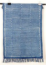 2x3.ft Indigo Blue Rug Door Mat Handmade Cotton Runner Modern Rug Woven Carpet