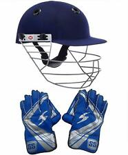 SS Combo of SS Prince Helmet Large Size SS College Men's Wicket Keeping Gloves