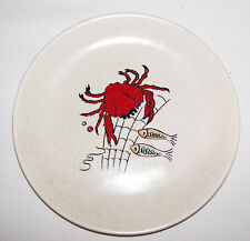Crown Devon Fieldings England Oceania Side Plate Crab Net Fish good condition