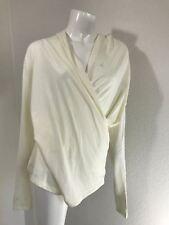 Lauren Ralph Lauren White Blouse XL Wrap Long Sleeve Shirt Top Sweater $70