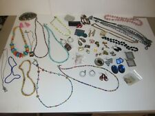 JEWELRY LOT BEADS WOOD NECKLACE RHINESTONE EARRINGS UNTESTED UNSEARCHED