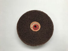 "SATIN FINISH BUFF WHEEL 3 PLY 4"" FINE ALUMINUM OXIDE BRUSH SURFACE FINISH"