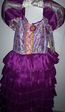 Halloween RAPUNZEL Tangled Disguise Ruffled Dress Up EXCLUSIVE costume Small