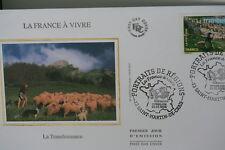 ENVELOPPE PREMIER JOUR SOIE 2006 LA FRANCE A VIVRE LA TRANSHUMANCE