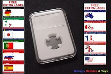 1 x New High Quality Coin Slab Holder (16mm) Storage Case with Free Extra Label