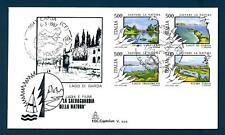 ITALIA REP. - 1987 - Salvaguardia della natura: fiumi e laghi su FDC Capitolium