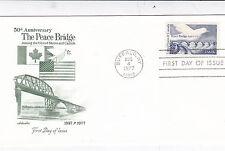 United States 1977 The Peace Bridge FDC Mint