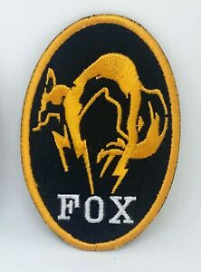 Metal Gear Solid Kojima Foxhound Iron on Sew on Embroidered Patch- yellow border