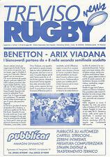 BENETTON TREVISO V ARIX VIADANA-Rugby n. 11 - 22 maggio 2001-programma di corrispondenza
