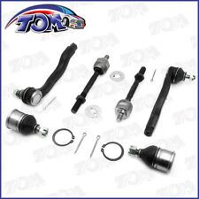 NEW 2 LOWER BALL JOINT 4 TIE ROD ENDS INNER&OUTER 96-00 HONDA CIVIC ACURA EL