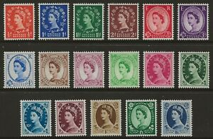 GB 1952 Wilding (Tudor Crown) comp. set of 17 superb mint MNH SG#515-531 cv£100
