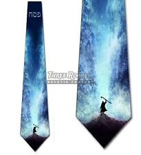Moses Parting the Red Sea Neckties Mens Hebrew Passover Religious Tie NWT