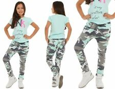 Mädchen Hose Baggy Camouflage Zip Skate Chino 116-158 hk288