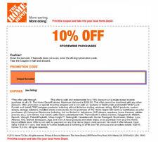 home depot coupons for sale ebay. Black Bedroom Furniture Sets. Home Design Ideas