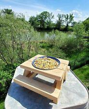New listing Large Squirrel or Bird Picnic Table Feeder Cedar Wood