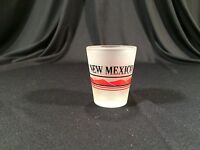 Vintage New Mexico Road Runner Frosted Shot Glass Collectible 2-1/4""