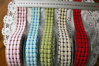 CHENILLE 3 Wide DOT Ribbon 3 & 4cmWide Metre Lengths MayArts 5 Colour Choice BR2