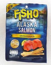FISHO ALASKA SALMON SNACK LOW FAT EPA, DHA AND OMEGA3 20G #SMOKED SALMON FLAVOUR