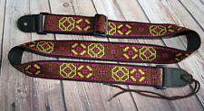 "Ukulele 1.5"" Instrument Strap - Brown, Pink, Yellow Cherokee"
