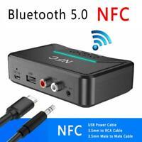 NFC Receiver 5.0 Wireless Bluetooth aptX LL RCA 3.5mm Jack Aux Audio Adapter USA