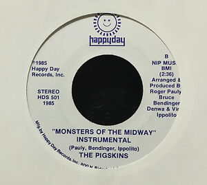 """The Pigskins - Monsters Of The Midway 7"""" Mint- 1985 Chicago Funk Boogie Soul"""