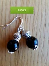 ER33 handmade gemstone agate drop earrings