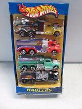 Hot Wheels Haulers Pack of 4 El Woods, Handy Cams, Hasse Racing and Jody's