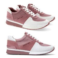 Zapatos de cuero entrenador Para Mujer Allie Michael Kors Tenis en relieve