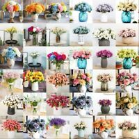 New Wedding Party Bouquet Posy Silk Flower Hydrangea Cozy Home Decor Lovely Gift