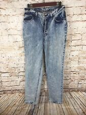 "Vintage Levis Jeans Denim High Waist Acid Wash Womens Button Fly 30"" Waist"
