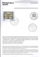 ITALIA 2002 MONTE CASTELLO DI VIBIO  BOLLETTINO COMPLETO DI FRANCOBOLLI FDC