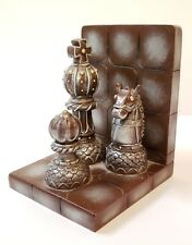 Enesco chess bookend King, Knight, Pawn