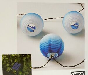 Ikea SOLVINDEN LED String with 12 Lights Outdoor Solar-powered Globe White/Blue