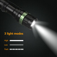 Tactical 20000LM Flashlight T6 LED High Power 3Mode Zoomable Torch Camping Light