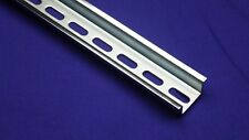 10pcs DIN Rail Slotted Steel, High Profile, 35mm x 15mm, 1.5mm Thick, 1 Meter