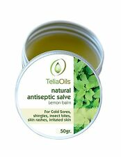 Lemon Balm Salve, Fast Acting - Natural Antiseptic/ Cold sores, herpes, Shingles
