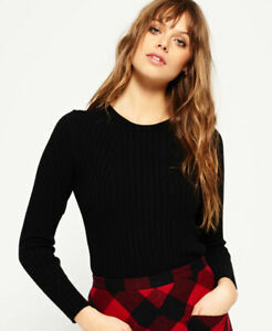 Superdry Womens Luxe Ribbed Knit Jumper