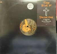 "THE BIG F DOCTOR VINE 12"" 1990 ELEKTRA ED5437 DJ PROMO HYPE STICKER"