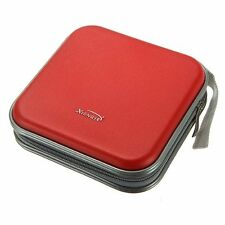 XIONGYE 40 Disc CD/VCD/DVD Case Storage Organizer Bag Album Box (Red) LW