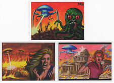 2016 Cult Stuff The Illustrated War of the Worlds P1 P2 & Rare P3 Promo Card Set