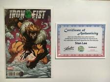 IRON FIST #5 SIGNED STAN LEE SABRETOOTH JIM LEE VARIANT X-MEN TRADING CARD