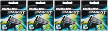 Gillette Mach3 Refill Razor Blade Cartridges - 12 Cartridges (4 Pack)