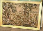 """Antique Needlepoint Wall Hanging Framed 21"""" x 18"""""""