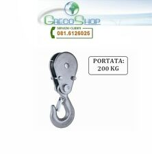 Gancio di carico con carrucola per paranco/verricello/argano/montacarico 200 Kg