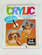 Craft Master Crylic Paint by Number Set 16003 Sad Eyes Dogs Acrylic New Sealed