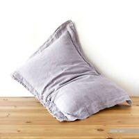 Oxford pillowcase 100% linen PILLOW CASE stonewashed linen queen king body white