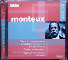 PIERRE MONTEUX: Beethoven Symphony 3 STRAUSS Don Juan Cherubini Anacréon BBC CD