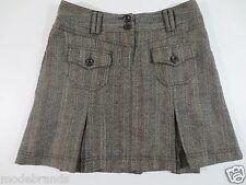 College Rock Z/X ZERO 36 S Tweed Fischgrät 45% Wolle braun beige wie NEU /L