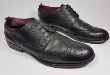 Next black leather wingtip brogue shoes uk 9 eu 43