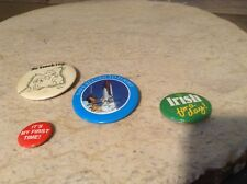 LOT OF 4 Assorted Sayings BUTTONS PINS